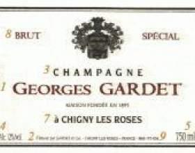 Етикетка шампанського фото