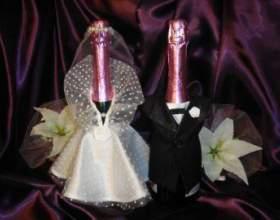 Як прикрасити пляшку шампанського в день народження або на весілля фото