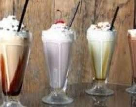 Коктейлі молочні з морозивом фото