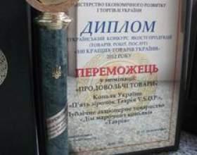"""Коньяк україни """"таврія vsop» - переможець всеукраїнського ... фото"""