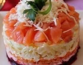 Рецепт салату з слабосоленої сьомги фото