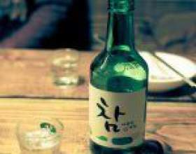 Соджу - солодка корейська горілка фото