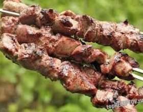 Шашлик з яловичини фото